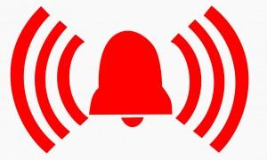 foto met een pictogram van alarmsignalering