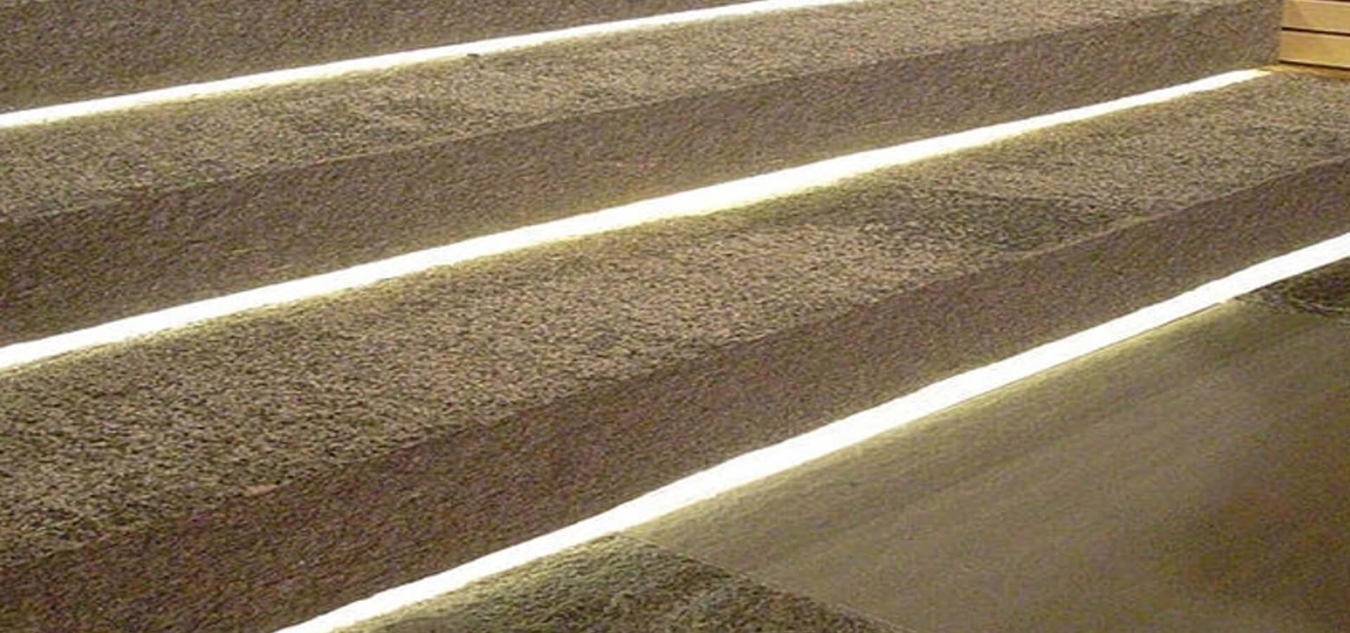 een veilige trap dankzij led verlichting