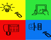 afstandbedienbare verlichting/deurslot, Ipad, intercom